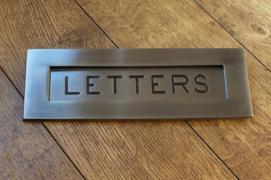 Antique Nickel Letterbox, Nickel Letterplates