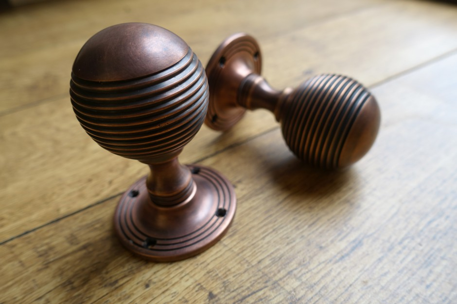 Autumn Bronze Door Knobs - Vintage Door Knob