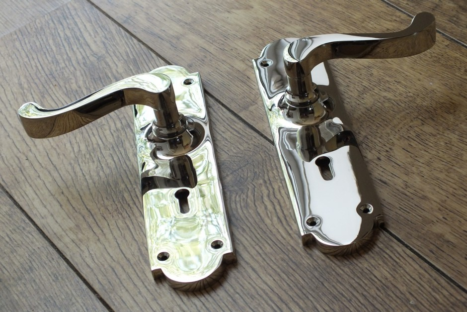 Polished Chrome Door Handles - Chrome Handle