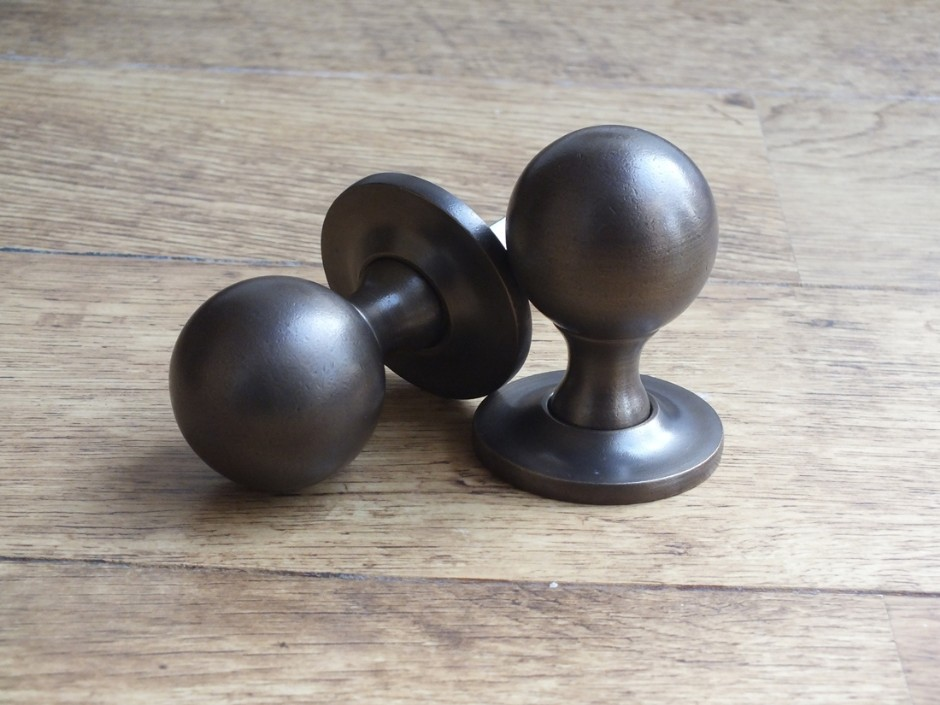 Rustic Antique Brass Ball Knob
