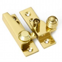 Locking Reeded Knob Sash Fastener
