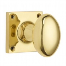 Oval Door Knob on Square Rose[[[[