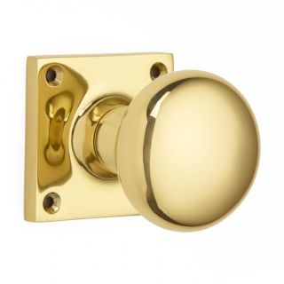 Cushion Door Knob on Square Rose