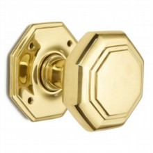 Large Flat Octagonal Door Knob