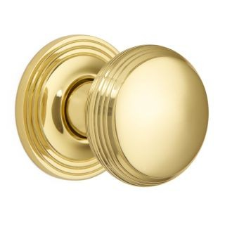 Reeded Cushion Knob on Covered Rose