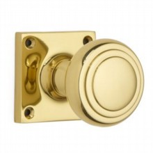 Stepped Cushion Door Knob on Square Rose