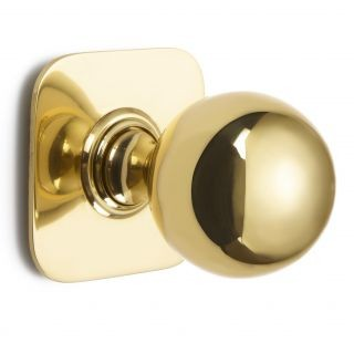 Ball Centre Door Knob on Square Rose