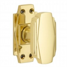 Art Deco Door Knob on Latch Backplate
