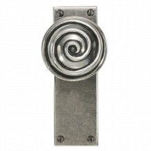 Swirl Pewter Door Knob on Latch Plate[[[[