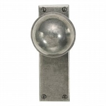 Beamish Pewter Door Knob on Latch Plate