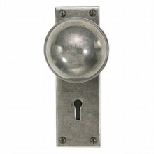 Beamish Pewter Door Knob on Lock Plate[[[[