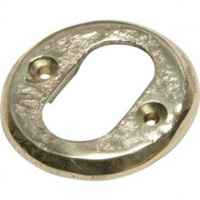 Cast Brass Oval Escutcheon