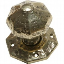 Octagon Cast Brass Door Knob on Octagonal Rose[[[[