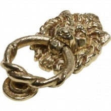 Cast Brass Lion's Head Door Knocker