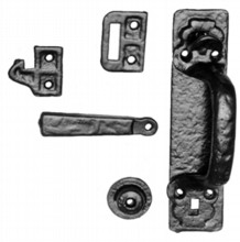 Antique Black Iron Thumb Latch