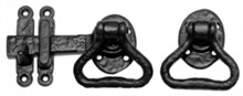 Antique Black Iron Gate Latch Set[[[[
