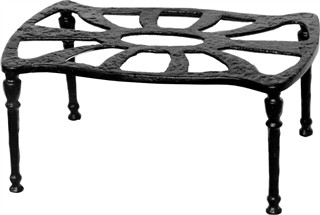Antique Black Iron Kettle Stand