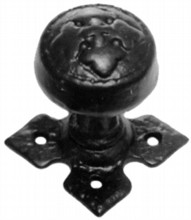 Decorative Black Iron Rim Knob on Diamond Rose[[[[
