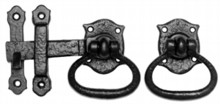 Antique Black Gate Latch Set[[[[
