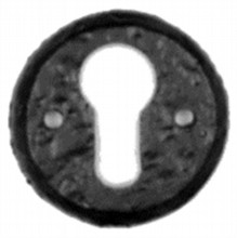 Antique Black Iron Euro Escutcheon[[[[