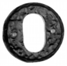 Antique Black Iron Oval Escutcheon[[[[