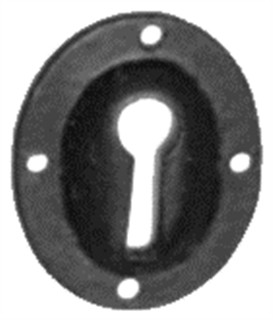 Antique Black Iron Escutcheon