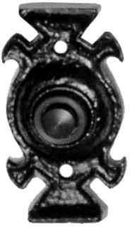 Antique Black Iron Bell Push