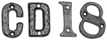 Black Iron Letters and Numerals