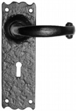 Antique Black Iron Door Handle