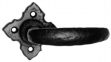 Black Iron Lever on Square Rose Door Handle[[[[