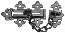 Antique Black Iron Door Chain
