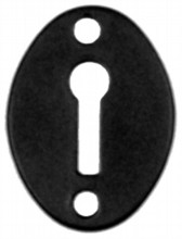 Smooth Black Iron Escutcheon[[[[