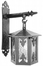 Antique Black Iron Wall Lantern[[[[