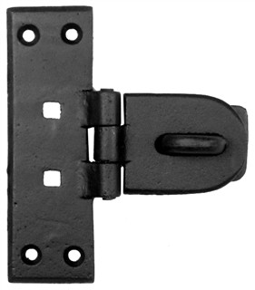 Antique Black Iron Hasp and Staple