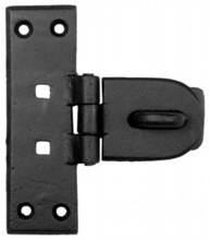 Antique Black Iron Hasp and Staple[[[[