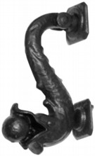 """Dolphin"" Antique Black Iron Door Knocker"