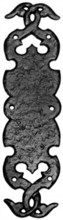 Antique Black Iron Finger Plate[[[[
