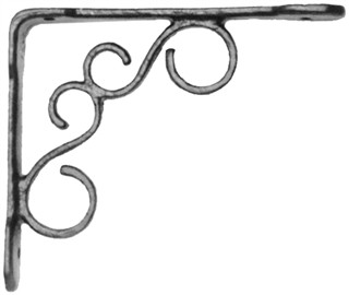 Antique Black Iron Shelf Bracket