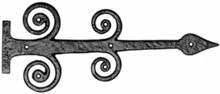 Antique Black Iron Hinge Front Set[[[[