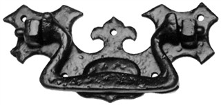 Antique Black Iron Drawer Pull