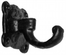 Antique Black Iron Coat Hook