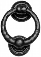 Antique Black Iron Ring Knocker