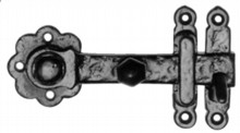 Antique Black Gate Latch[[[[