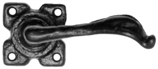 Black Iron Lever on Square Rose Door Handle