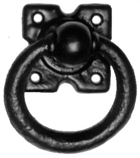 Antique Black Iron Gate Handle