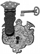 Antique Black Iron Drawer Lock[[[[