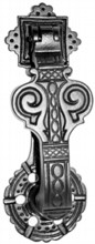 Decorative Antique Black Iron Door Knocker