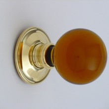 Amber Balloon Glass Door Knob