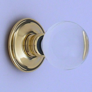 Clear Balloon Glass Door Knob