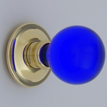 Cobalt Blue Balloon Glass Door Knob
